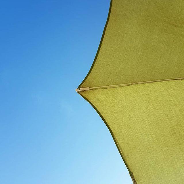 Ausblick! Sonnenschirm und blauer Himmel. 🌊☀️🌴 #diepetzi #meer #italy